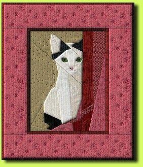 Cat paper pieced pattern