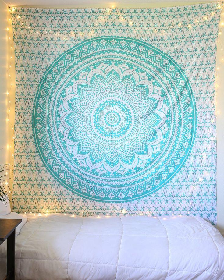 Aquamarine Mermaid Sparkly Tapestry | Teen Girl bedroom ...