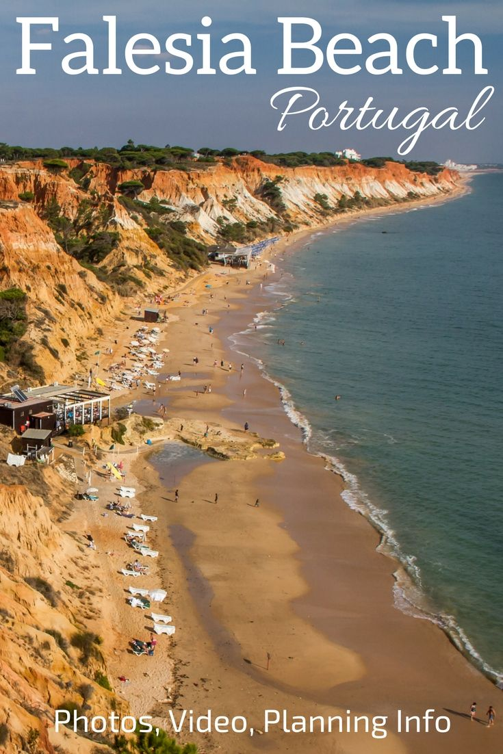 Discover one of the most spectacular beaches in Portugal: Praia da Falesia in the Algarve region (alias Falesia Beach) - Golden Sand and a very Colorful Cliff with white, yellow, orange and red! Photos and Videos in the Article  ***Portugal Travel - Portugal Algarve - Portugal beach - Algarve Beach - Portugal things to do - Portugal Itinerary - Portugal photography - Portugal Travel Guide - Portugal Travel Tips