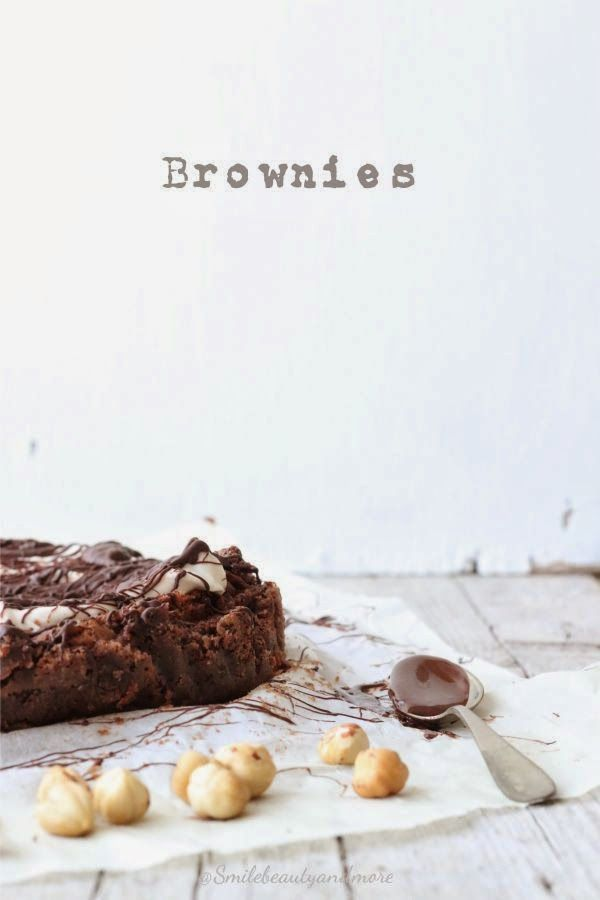 chocolate hazelnut brownies (rice flour)  {site translator}