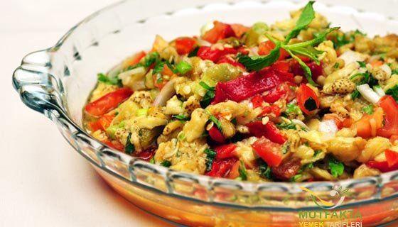 Köz Patlıcan Salatası Tarifi   Mutfakta Yemek Tarifleri