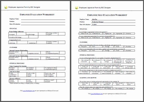 Employee Performance Scorecard Template Excel Unique Employees