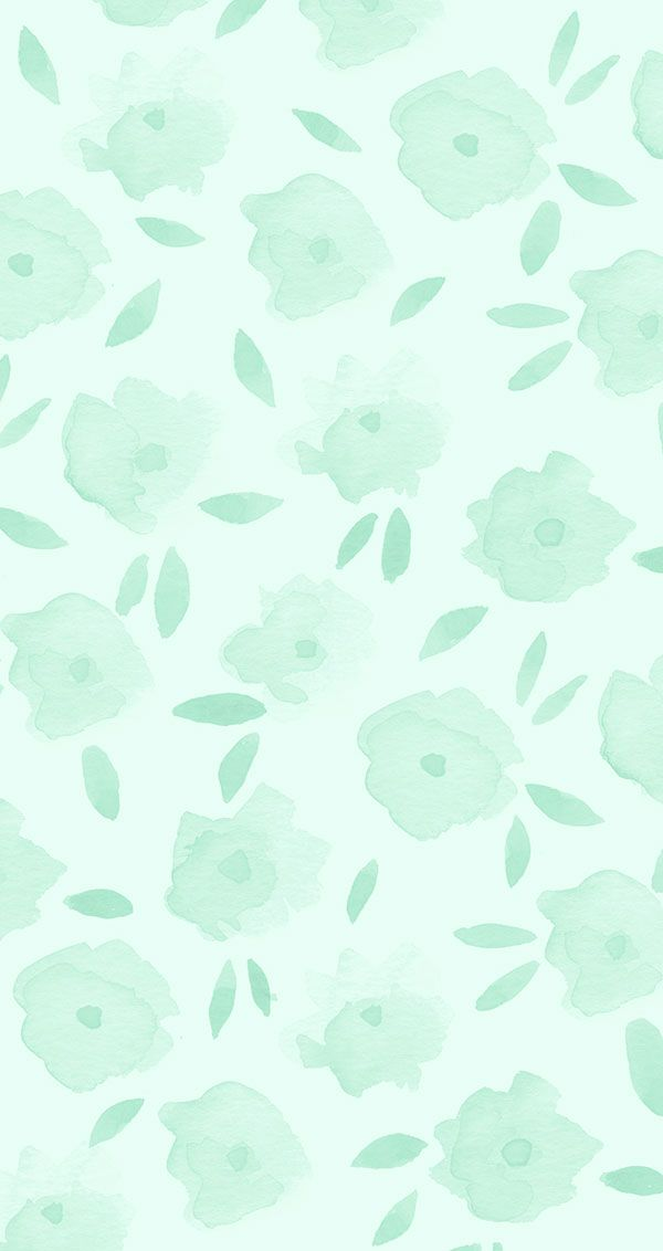 Mint floral iPhone wallpaper on LaurenConrad.com