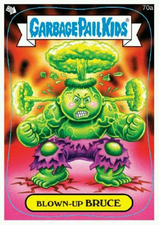 garbage pail kids Blown-up Bruce