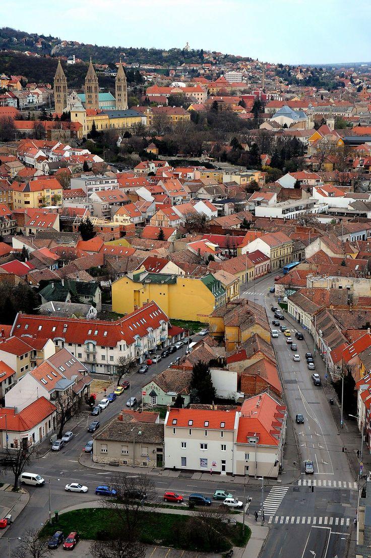 Pécs - Hungária utca-Petőfi utca