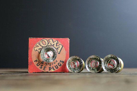 old 20 amp fuse box vintage pyrex fuse plugs noma original box 4 fuses unused  vintage pyrex fuse plugs noma