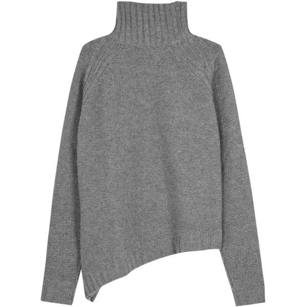Womens Jumpers Joseph Grey Roll-neck Wool Jumper ($540) ❤ liked on Polyvore featuring tops, sweaters, roll neck sweater, grey top, gray sweater, grey wool sweater en wool jumper