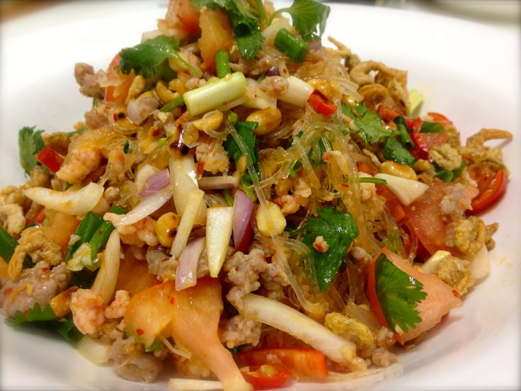Glass Noodles Salads Recipes   Spicy Thai glass noodle salad   she cooks she laughs she loves
