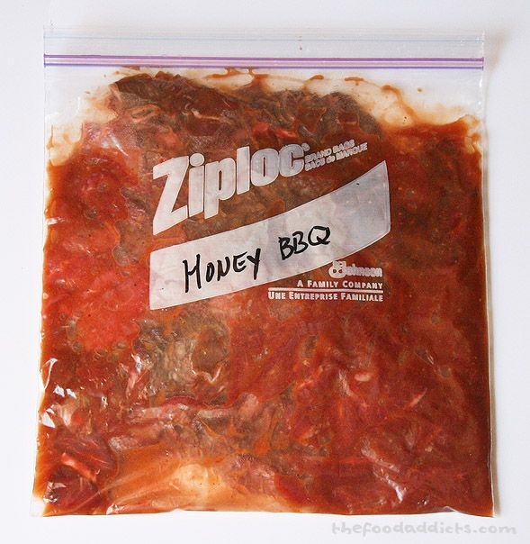 Honey BBQ Jerky: 1 lb meat, 1/3 cup honey, 1/2 cup ketchup, 1/4 cup butter, 1 tbsp apple cider vinegar, 2 tsp Dijon mustard, 2 tbsp brown sugar, 1 tbsp soy sauce, 1 mashed garlic clove, 1 tsp chili powder. Marinade needs to simmer on the stove for about 5 minutes to let the butter melt and flavors incorporate.