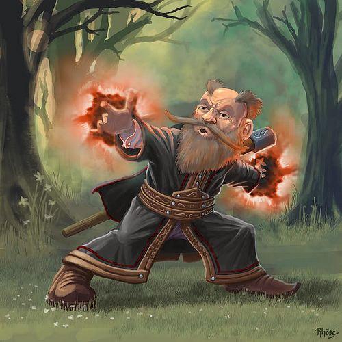 gnome-dwarf wizard | by twen5