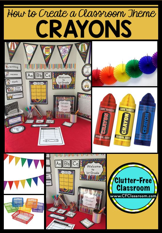 Classroom Decor On A Budget : Best crayons classroom theme images on pinterest