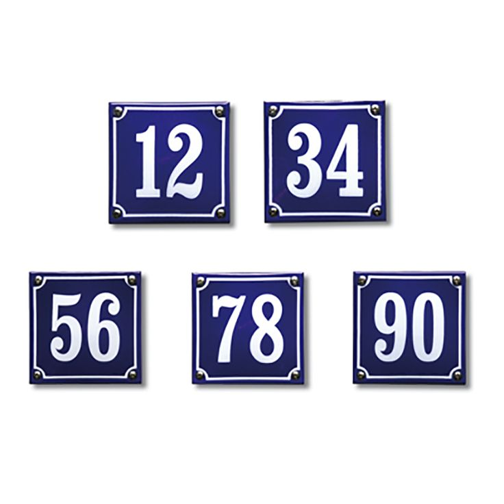 Emaille oud Hollandse huisnummers