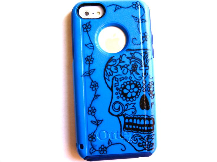Otterbox iPhone 5C case, case cover iphone 5c otterbox ,iphone 5c otterbox case,otterbox iphone 5C, otterbox, skull otterbox case by JoeBoxx on Etsy