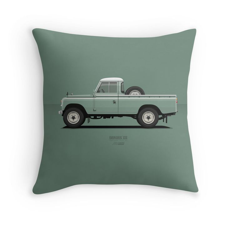 Series 3 PickUp 109 Light Green  #redbubble #landrover #landy #landroverseries #series3 #landroverpickup #ARVwerks #apparel #merchandise #carart #art #automotive #british #pickup #pickuptruck #landrover109 #throwpillow