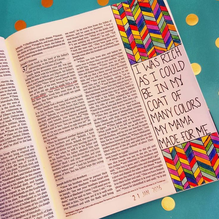 Joseph's Coat of Many Colors #biblejournaling #illustratedfaith #biblejournalingcommunity  Inspo from @cabreratina & @magmagandme by micah_olivia