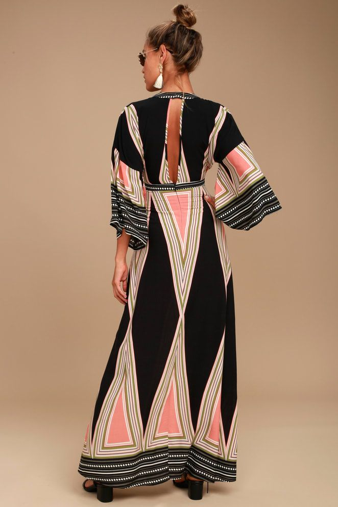 621e089b29 Montecito Black Print Maxi Dress in 2019 | Italy clothes | Dresses ...