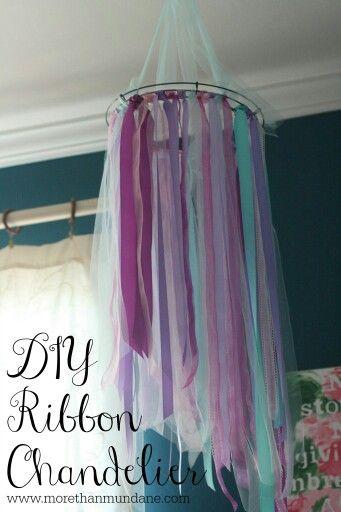 Teen Girl Bedroom Decor ribbon chandelier
