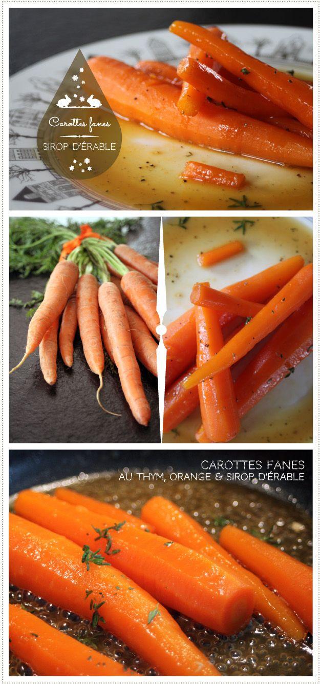 Carottes au sirop d'érable, orange et thym ©reglisseetmarmelade2013 www.reglisse-et-marmelade.fr