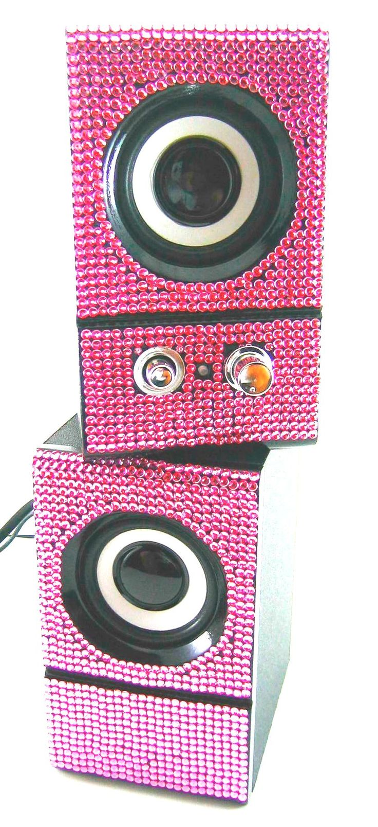 Pink Sparkly Desk Accessories | Pink Crystal Rhinestone Desktop Computer Speakers | eBay