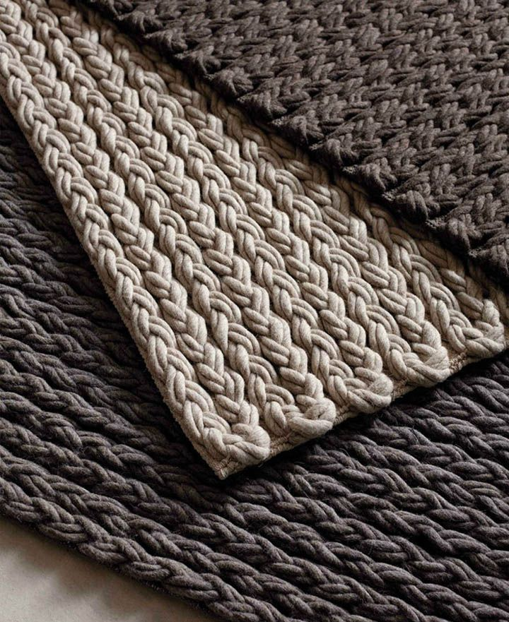 Mireille's Rug - Solid, muted, earth tones. Nice texture.