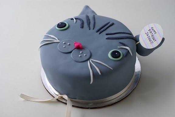 Gray Cat cake