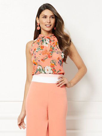 6e3ebdce2 Shop Eva Mendes Collection - Sabrina Floral Bow Blouse. Find your perfect  size online at the best price at New York   Company.