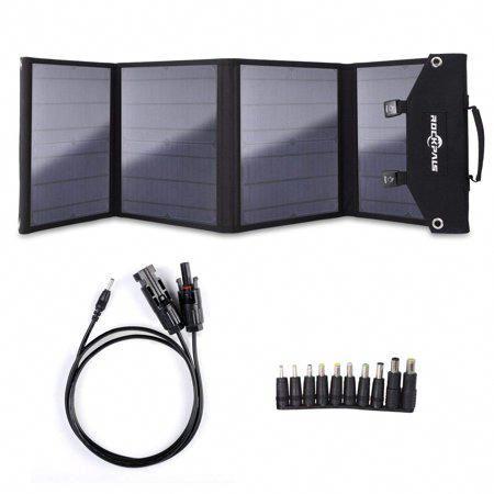 Rockpals 60watt Foldable Solar Panel Qc3 0 Usb Ports Dual Output For Suaoki Webetop Jackery Paxcess Goal Zero Yeti Explorer 240 In 2020 Solar Panel Charger Portable Generator Best Solar Panels