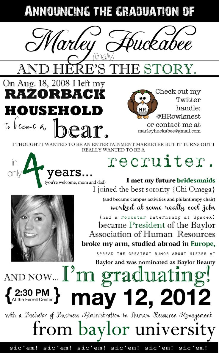 unconventional college graduation announcement - for the PhD? (you better believe I'm celebrating the doctorate)