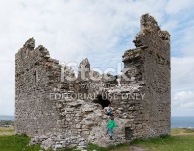 Aran Island Castle in Galway Bay Royalty Free Stock Photo