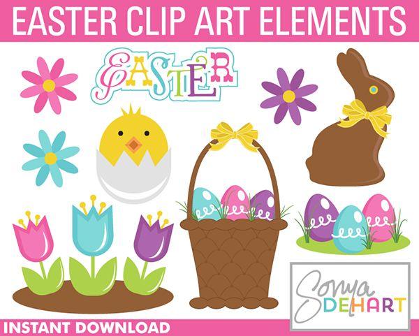 FREE Easter Clip Art Set From Sonya DeHart Design