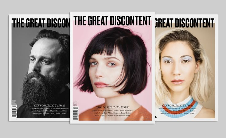The Great Discontent, Issue 3 with multiple covers, featuring Alison Sudol, Iron & Wine, and Tei Shi.