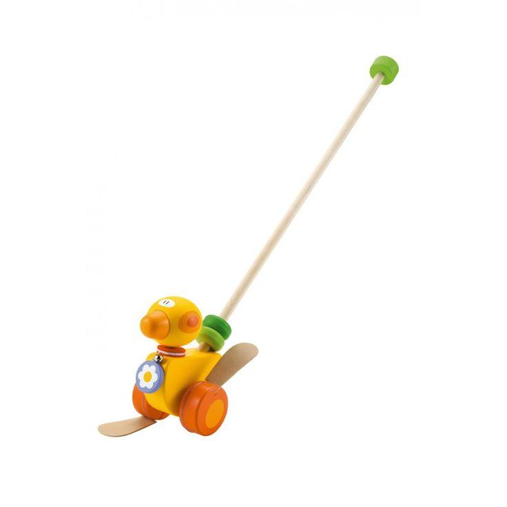 Toy Duck with Pushing Rod - Sevi 82187 - lalberoazzurro.net
