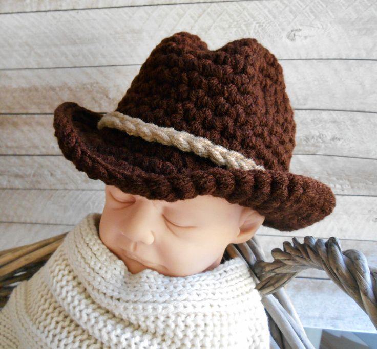 Baby Boy Cowboy Hat, Newborn cowboy hat, Cowboy boy hat, photo prop boy hat, cowboy hat, baby boy hat, crochet hat, infant baby boy hats by TwoLittleAngels1 on Etsy https://www.etsy.com/listing/96579893/baby-boy-cowboy-hat-newborn-cowboy-hat