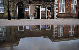 EU referendum polling station at the Chelsea Royal Hospital.