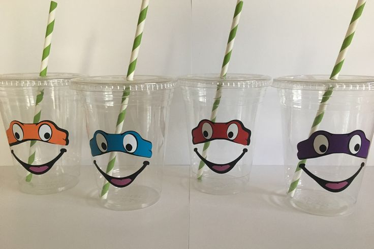 Ninja Turtles Party Cups by PartyOnCreations on Etsy https://www.etsy.com/listing/478926774/ninja-turtles-party-cups