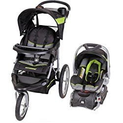 Lightweight Steel Frame Construction Millennium Jogger Travel System, Green by Baby Trend