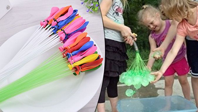 Buy 111 Magic Water Balloons - 5 Colours UK deal for just: £6.99 Have some rip-roaring fun with the 111 Magic Water Balloons      Connect the attachment to the hose and fill up multiple balloons at the same time.      Gently shaking the balloons will tie them on on their own      Available in white, blue, green, yellow, pink      Have full-on water battles with this collection of balloons    ...