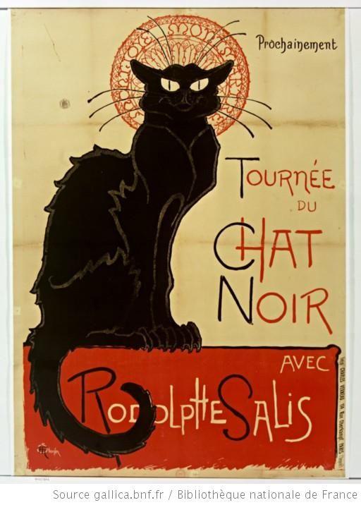 Prochainement Tournée du Chat Noir AVEC Rodolphe Salis : [affiche] / Steinlen
