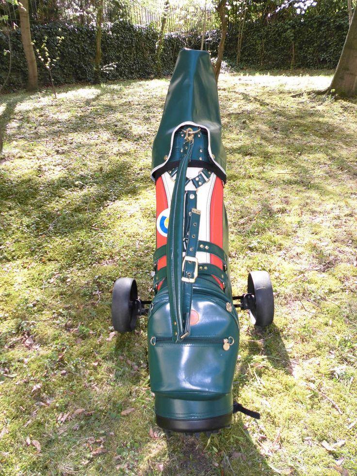 Golf–Set mit Golfwagen Golfschläger Golfbag