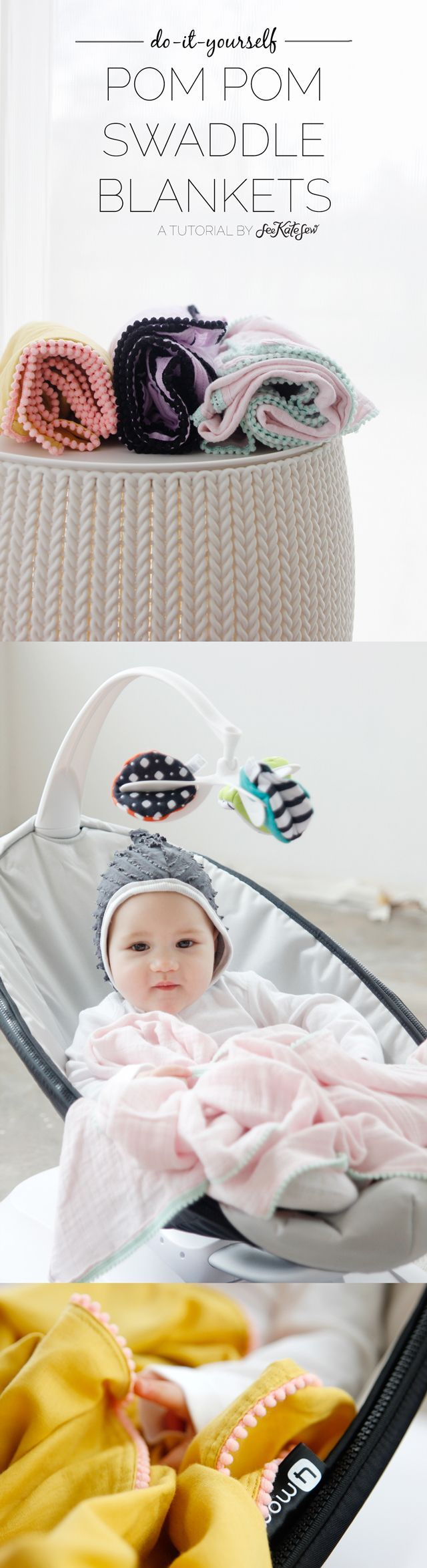 9598 best diy sewing projects images on pinterest sewing diy pom pom swaddle blankets sewing projects solutioingenieria Images