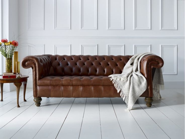 Vintage Leather Chesterfield Sofa From The Chesterfield Company. Also  Available In 30 Other Colours.
