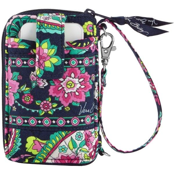 Vera Bradley Carry It All Wristlet in Petal Paisley ($25) ❤ liked on Polyvore featuring bags, handbags, clutches, bittersweet, petal paisley, sale colors, hand bags, zip around wristlet, coin purse and purse pouch