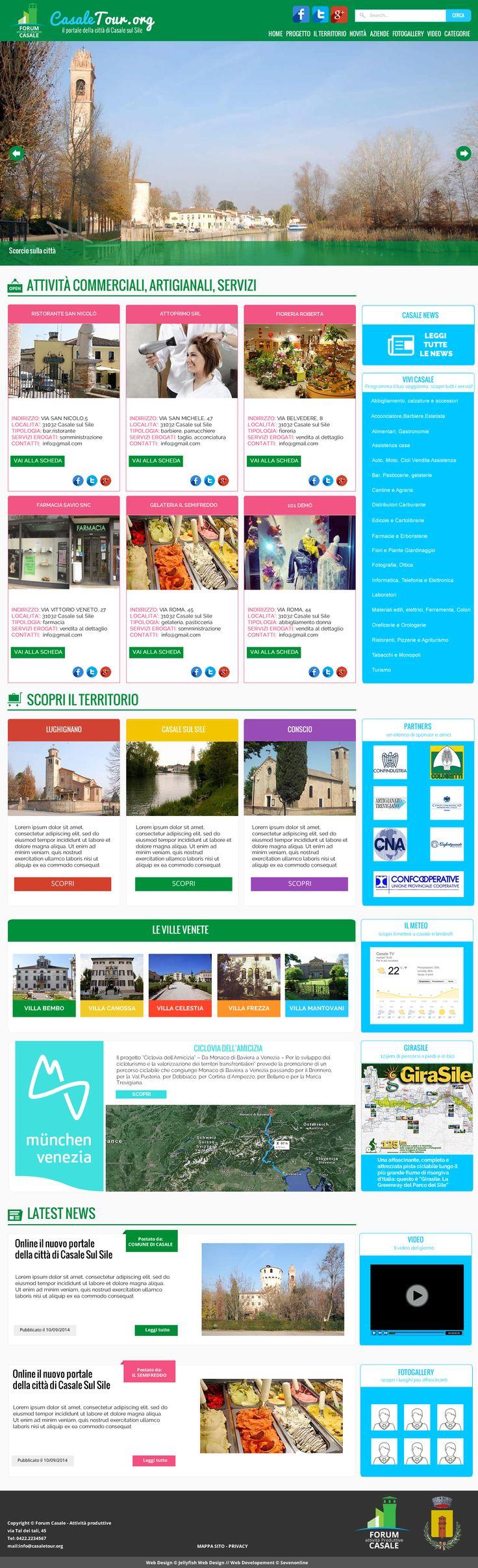 Casale sul Sile - portale della città.  Novembre 2014.   By Jellyfish Design  www.jellyfishdesign.it