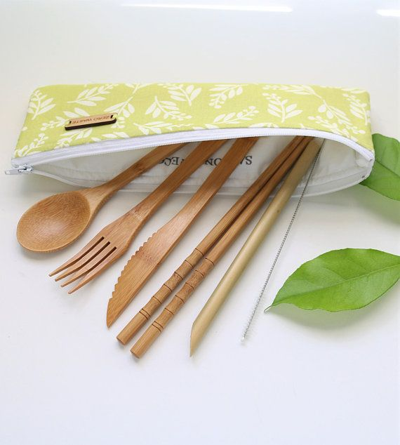 IN STOCK. Upcycled Bag Eco Gift Zero Waste Kit Carry On Kit Reusable Products Kit