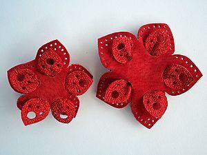 Украшения из кожи для маленькой модницы   Ярмарка Мастеров - ручная работа, handmade