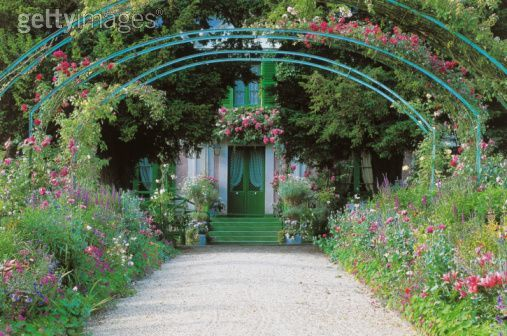 I would like to wander around Claude Monet's house and gardens in France.: Giverny Monet S Garden, Monet S Gardens, French Gardens, Bridge, Photo