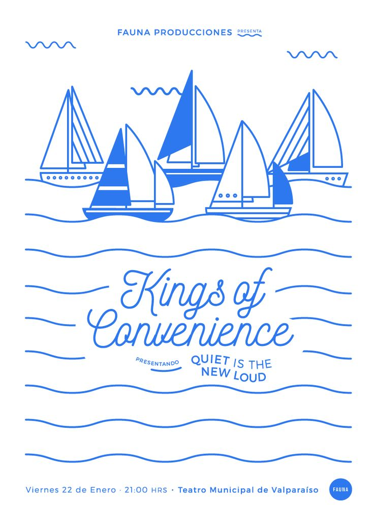 Gig Poster: Kings Of Convenience (2016) on Behance