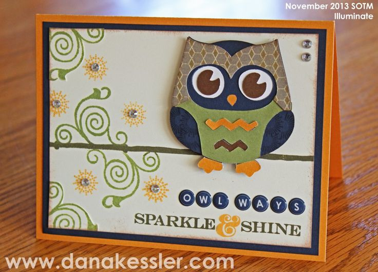 Dana Kessler: Owl Artbooking Card November SOTM Illuminate #Artbooking