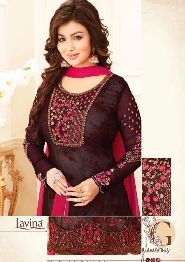 d331aac532 Buy lavina Nx3 Georgette Embroidery Salwar Suit 3003 | DESIGNER ...