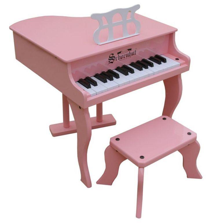 Schoenhut 30 Key Fancy Baby Grand Piano - Pink 3005P